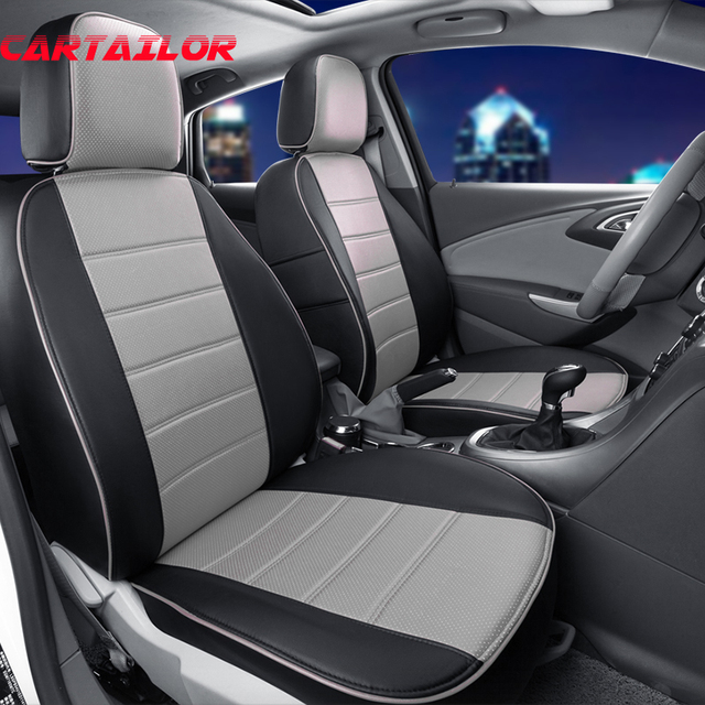 CARTAILOR Front Rear Car Seat Protector Custom Fit For Fiat Punto Cover Set PU
