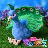 28cm Simulation Peacock Stuffed Animal Toys Soft Plush Toys Dolls For Kids Christmas/Birthday Gifts