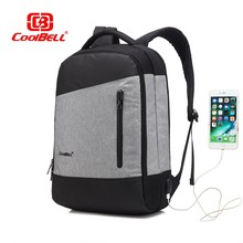 COOLBELL Waterproof Backpack 15.6 inch USB Men Women Laptop Backpack Fashion Student Backpack For Teenage Girl Boy(China)