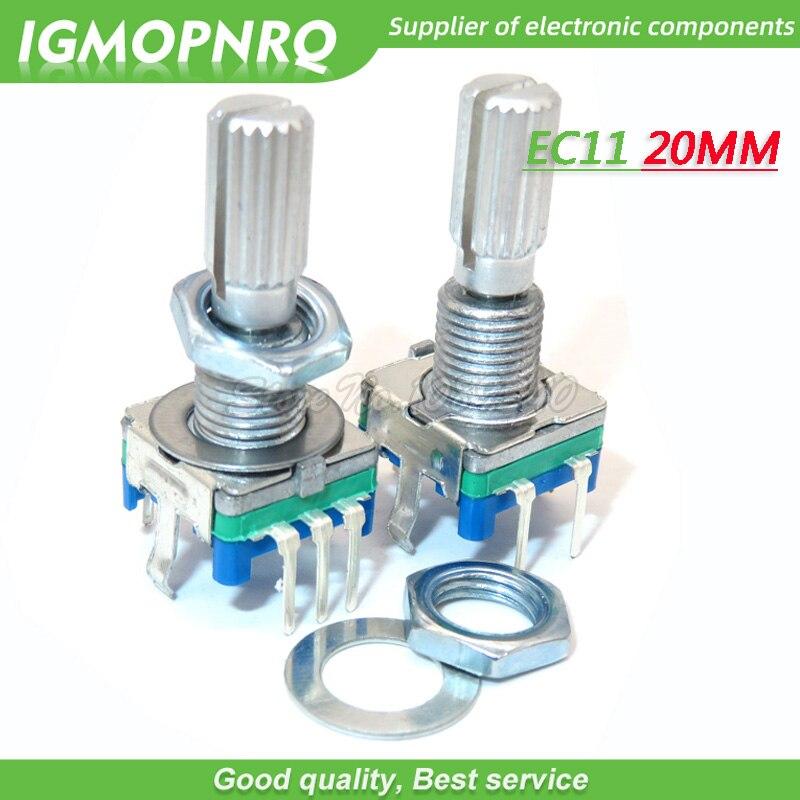 5 pièces EC11 20mm prune poignée codeur rotatif commutateur de codage potentiomètre numérique commutateur 5 broches bricolage IGMOPNRQ