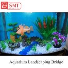SMARTPET Resin Aquarium Landscaping Decorative Fish Tank Bridge Turtle Climbing Plateform Ornament Equipment Accessories