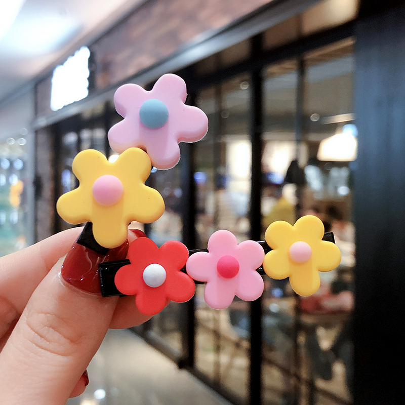 2019 Ins Fashion Baby Girls Candy Flower Hair Clips Sweet Headwear Hair Ornament Hairpins Barrettes Headband Hair Accessories in Hair Accessories from Mother Kids