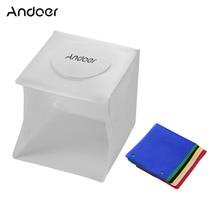 40Pcsลูกปัด6500K Mini Folding Lightboxสตูดิโอถ่ายภาพSoftbox 6สี2 LED Light Soft Box Photoพื้นหลังชุด