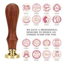 DIY древняя печать ретро штамп, пользовательское имя Свадебный Воск штамповки букв для ювелирных изделий штамп деревянная ручка, персонализированная печать восковая печать пользовательский дизайн