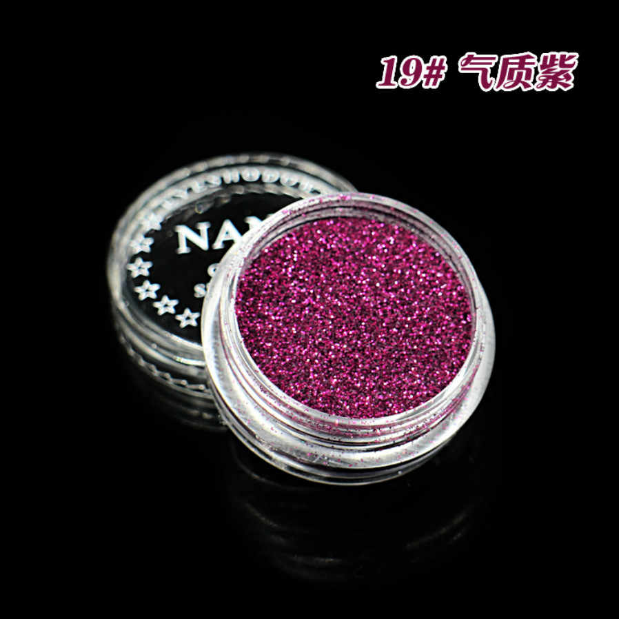 Temperamen Ungu 23 Warna Glitter Eyeshadow Bubuk Pigmen Mineral Spangle Halus Makeup Kosmetik Set Tahan Air Tahan Lama