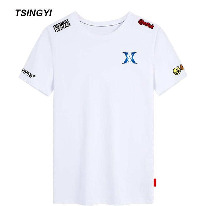 Tsingyi Customize Summer T Shirt KZ KING ZONE DragonX Women Men T shirt LCK Bdd Peanut Pray Camisetas Hombre Tee Shirt Homme