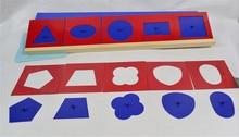 Детские игрушки Монтессори металла вставки комплект/10 для дошкольного образования Дошкольное обучение обучения Игрушки геометрических форм