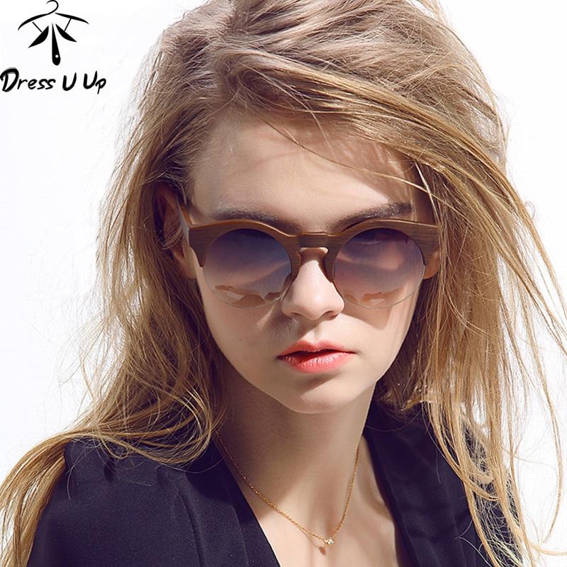 DRESSUUP Női kerek napszemüveg márkatervező Vintage félig perem - Ruházati kiegészítők - Fénykép 2