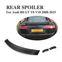 Carbon Fiber Car Rear Race Spoiler for Audi R8 GT V8 V10 2008 2015 tail trunk Boot High Wing Car Tuning Parts