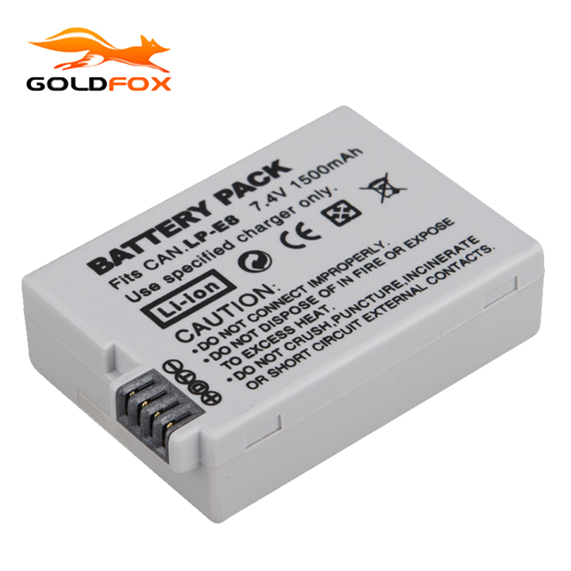 1Pcs 7.4V 1500mah LP-E8 LP E8 LPE8 Digital Camera Battery For Canon EOS 600D 650D 550D 700D T4i T5i Rebel T2i