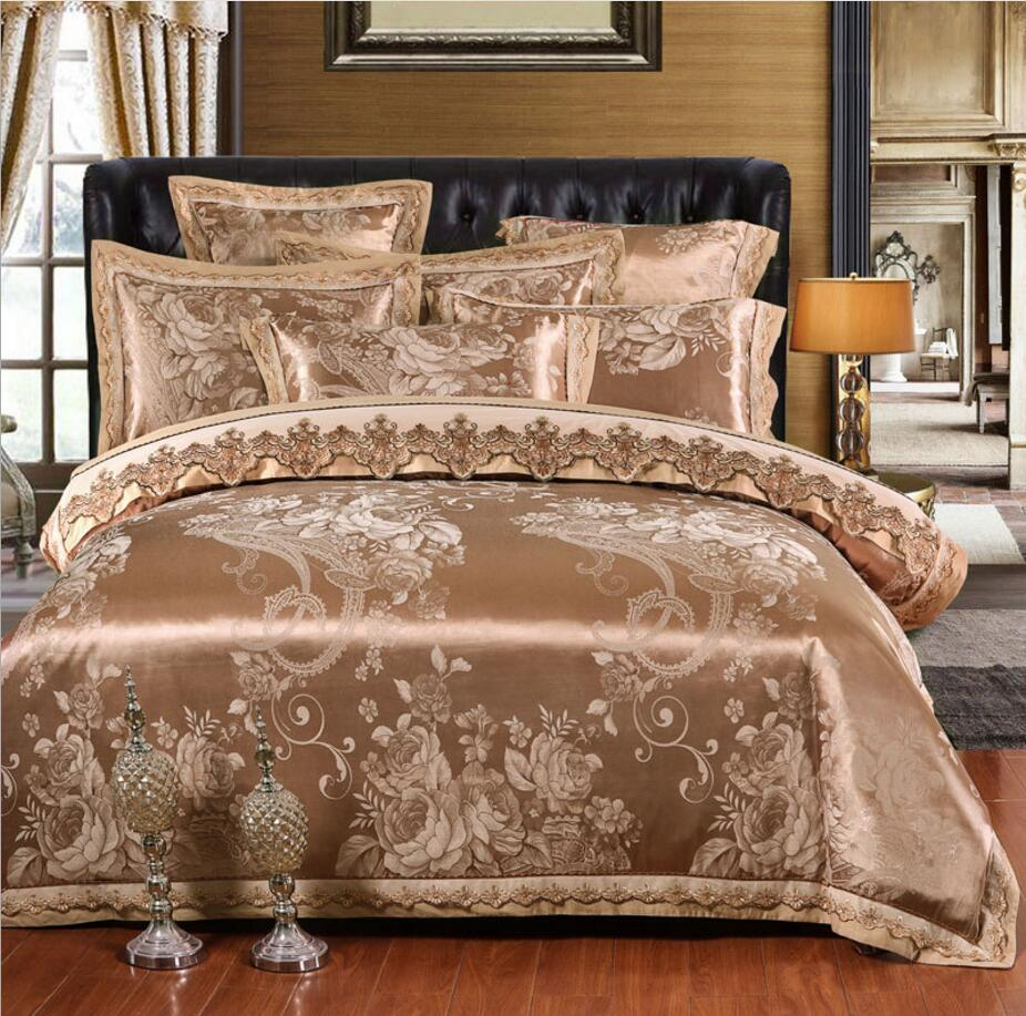 Honesty Pure White Cotton Lace Bedding Sets Queen King Superking Size Europe Morden Home Duver Cover Bed Skirt Pillow Case Beddding Kit Bedding