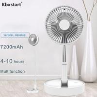 Kbxstart USB Chargable Portable Foldable Telescopic Fan Multi Function Desktop Table Fan Adjustable Angle Travel Air Cooling Fan