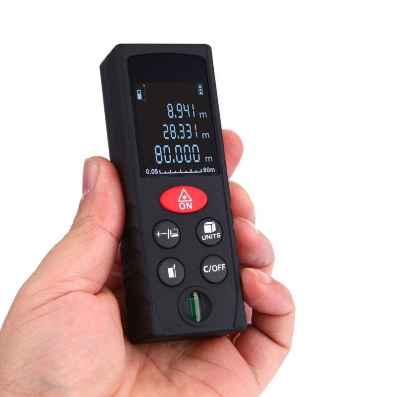 40-100 M Laser Beam medidor de distancia telémetro Digital electrónico medido cinta rango buscador Trena señal Reciever Vertical Bubble