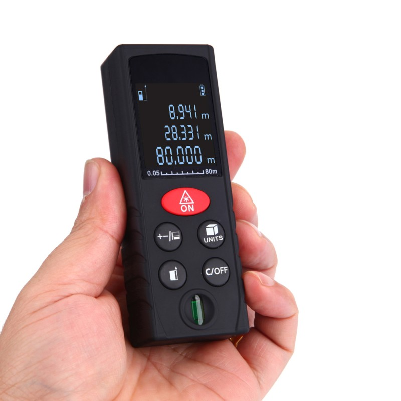 40-100M Laser Beam Distance Meter Digital Rangefinder Electronic Measure Tape Range Finder Trena Signal Reciever Vertical Bubble portable d100 100m electronic digital laser power tape measure