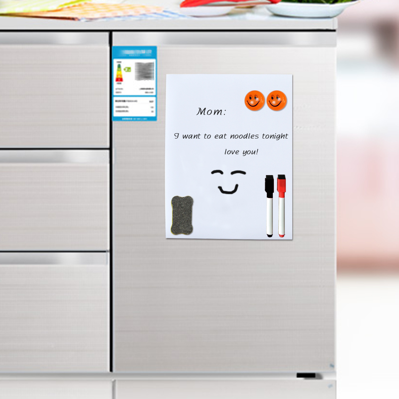 YIBAI Magnet <font><b>Whiteboard</b></font> <font><b>A5</b></font> soft magnetic board, Dry Erase drawing and recording board Message Board For Fridge Refrigerator image