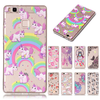 Huawei P9 Lite Case Cover Unicorn Donuts Case for Huawei P9 lite Case Huawey P9lite Funda Soft Silicone Phone Cover 5.2