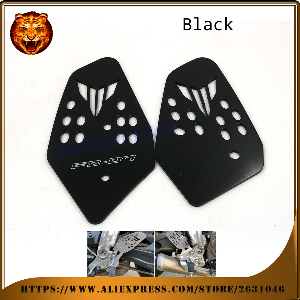 Motorcycle Accessories Foot Peg Heel Plates Guard Protector For YAMAHA FZ07 FZ-07 07 MT-07 MT FZ 2014 2015 2016 NEW STYLE Racing microscope accessories mobile 00 foot power dimming