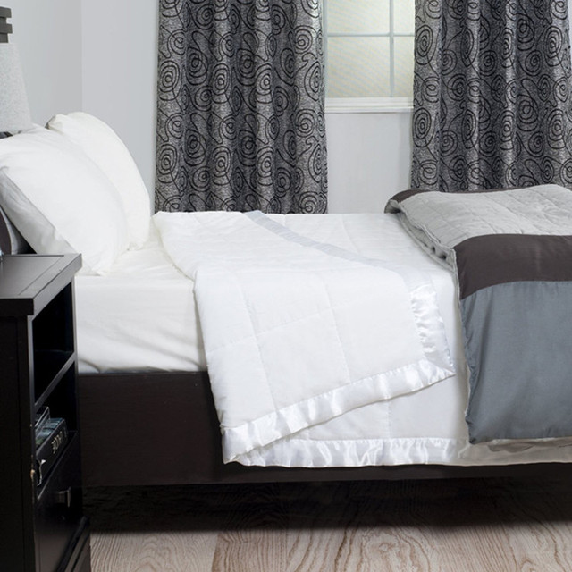 Down Quilt Blanket Duvet With Satin Trim 100 Cotton Queen 90 96