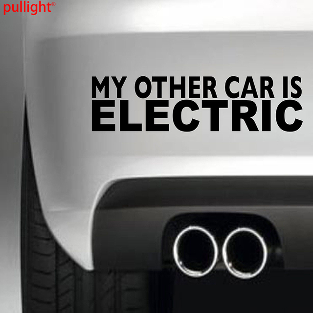 My other car is electric car bumper sticker vinyl decal jdm 4x4 funny