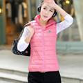 2016 autumn and winter vest female cotton-padded jacket down outerwear women's cotton vest female fashion cap wadded jacket