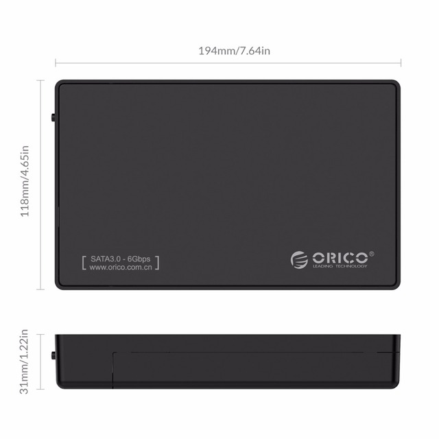 ORICO 3588US3 HDD Enclosure 3.5-inch SATA External Hard Drive Enclosure, USB 3.0 Tool Free 5