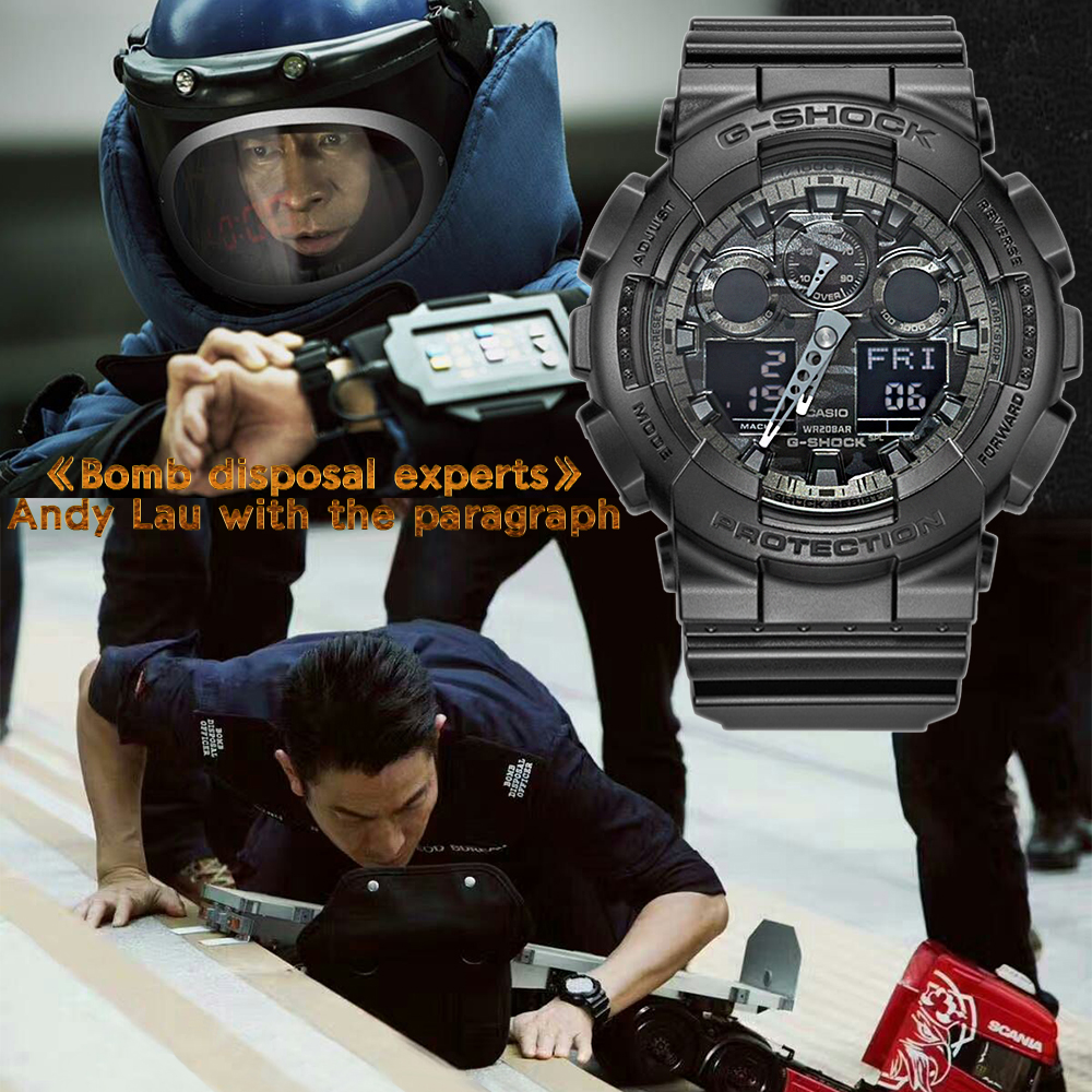Casio watch Fashion camouflage waterproof resin sports men watch GA-100CF-1A GA-100CF-8A GA-100CB-1A GA-100C-8A GA-100CF-1A9 часы casio ga 100cf 1a