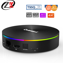 Get more info on the  Smart TV Box T95Q4G 64GB iptv Android 8.1 TV Box  Amlogic S905X2 WiFi 2.4G 5.8GB bluetooth Lan 1000 M set-top box  4KH 3D Life
