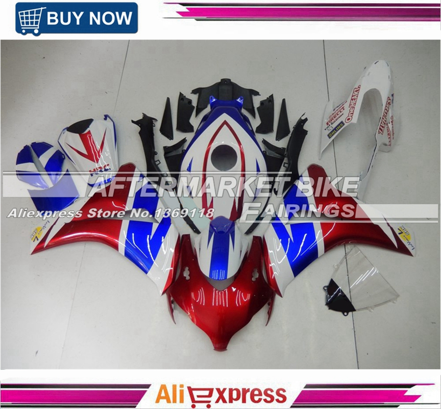 Durable Quality 3mm Thick ABS Plastic Fairing Cover For Honda CBR1000RR 2008-2011 Body Kit WIth Customized Decals 2009 2010 arashi motorcycle radiator grille protective cover grill guard protector for 2008 2009 2010 2011 honda cbr1000rr cbr 1000 rr
