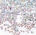 SS3-SS40 Cristal ab Strass Unhas 1440 pcs Plana Volta Non Hotfix Glitter Pedras Prego, 3d DIY Nail Decorações de Telefones suprimentos