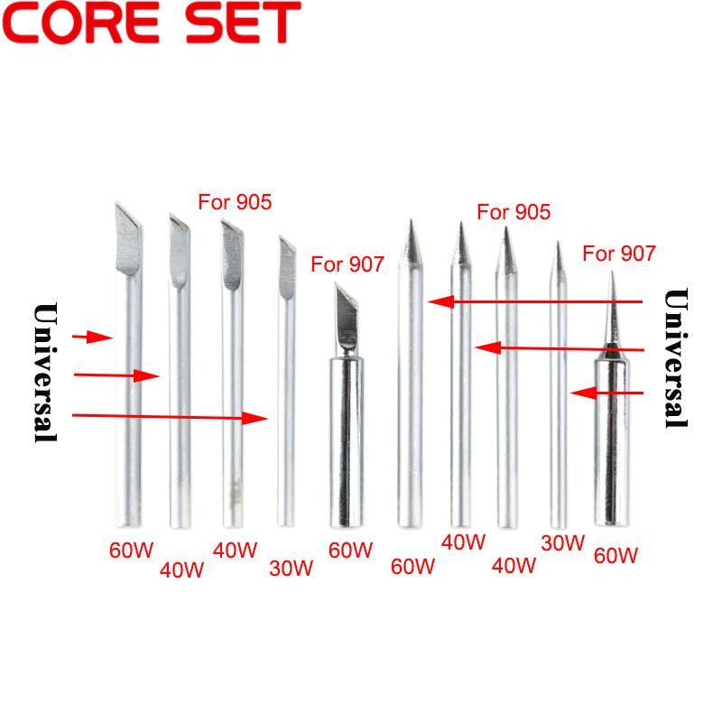 New Lead-Free Soldering Solder Iron Tip Kit For 905 907 Universal Electric Iron Tip Soldering Station High Quality