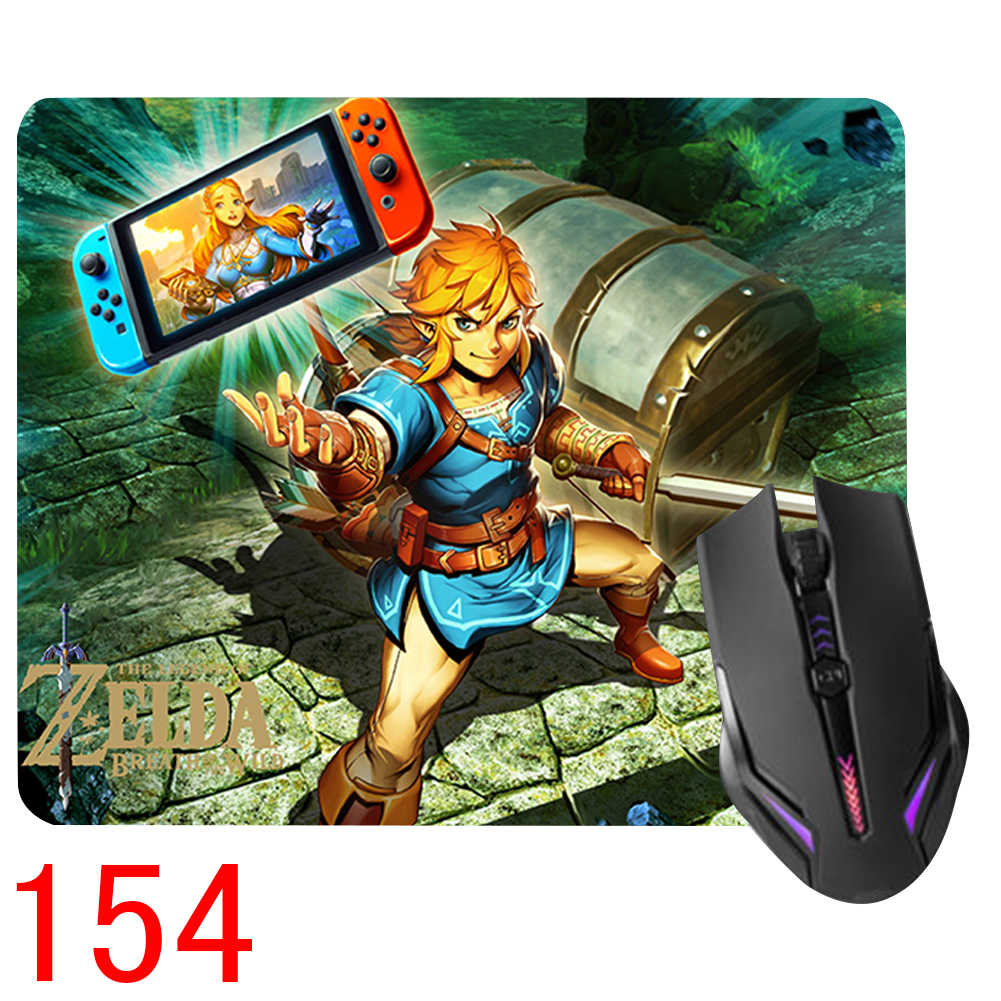 18*22cm Play Game Mat The Legend of Zelda: Breath of the Wild Link Optical  Laser Mouse Pad Control Edition Collection Gift Cool