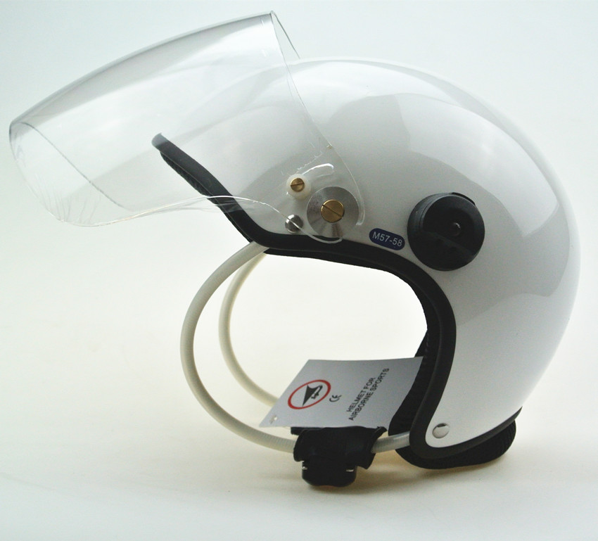 White EN966 PPG helmet /Paramotor helmet/ Powered Paragliding Helmet GD-C without headset free shipping