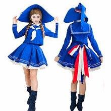 Wadanohara y el Gran Mar Azul vestidos de Traje Cosplay conjunto completo