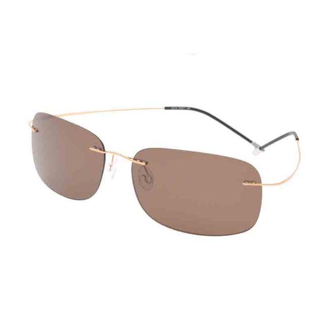 2016 marca de luxo designer sunglassesmen e mulheres óculos polarizados óculos de sol sem aro titanium óculos de condução espelho óculos de proteção uv400