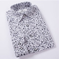 2017 New Men Floral Shirts M-4XL Fashion Casual Slim Fit Camisas Business Dress Floral Print Homme Shirts