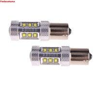 2 개 최고의 품질! 화이트 6000 천개 1156 P21w Canbu 오류 자동차 LED 전구 아우디 A1 A3 A6 S3 Q7 등을 실행 DRL 주간 조명