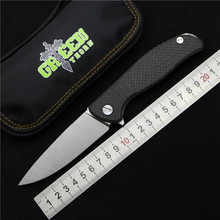 Green thorn 95 Hati bearing Flipper folding S35VN blade carbon fiber Titanium handle camping hunt outdoor fruit knife EDC tools