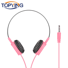 girls earphones headphones Child Headset 3.5mm wired bass High sound quality Foldable Sport Earphone Wired