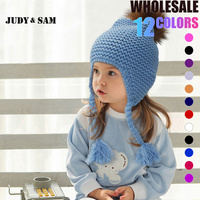All For Children Clothes Accessories Kids Casual Bomber Hats Warm Knitted Style Brand Design Factory Made