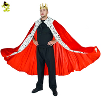 Men Luxury King Costume With cape&crown For Adults Mens Role Play Party Performance For Halloween Party Cosplay King Costumes
