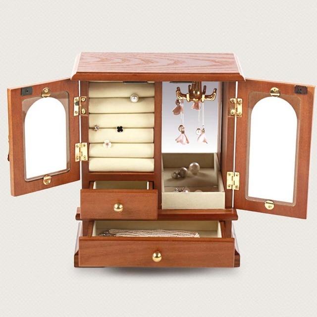 Jewelry Box Watch Cases Rings Jewelry Organizer Storage Case Makeup Storage  Box