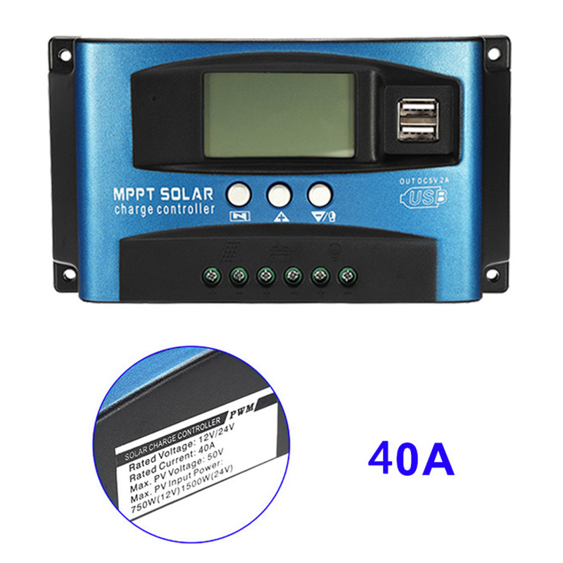 40A-100A MPPT Solar Panel Regulator Charge Controller 12V/24V Auto Focus Tracking Device WWO66