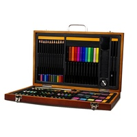 Artist Supply Painting Set Painting Color Pencil Watercolor Pastel Crayons Painting Wax Full Set Wooden Storage