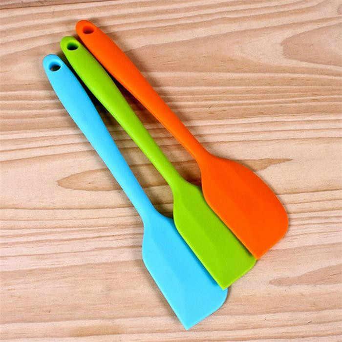 Da cucina In Silicone Della Torta Raschietto Unibody Burro Raschietto cuocere Strumenti Multicolor Baker Spatola Raschietto Colori Casuali