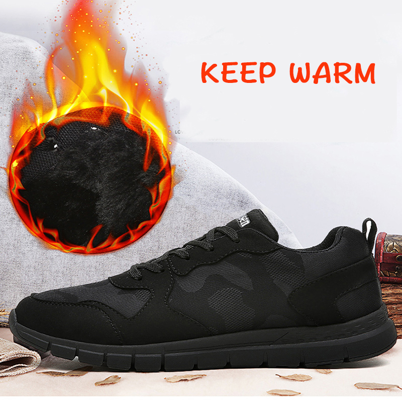 MULINSEN Men Running Shoes with velvet winter 2017 Shoes Men MD Walking Shoes Sport jogging brand sneakers for men zapatos
