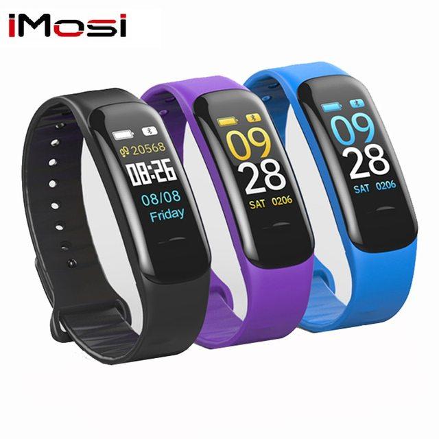 Imosi pulsera inteligente C1s con pantalla a Color, pulsera con supervisión de frecuencia cardiaca, medición de la presión arterial, banda rastreadora de ejercicios