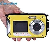 OMESHIN Mini Usage Domestique Double Écran Étanche Caméra 24MP 16x Zoom Numérique Plongée Caméra FHD 1920*1080 Top Qualité DEC17