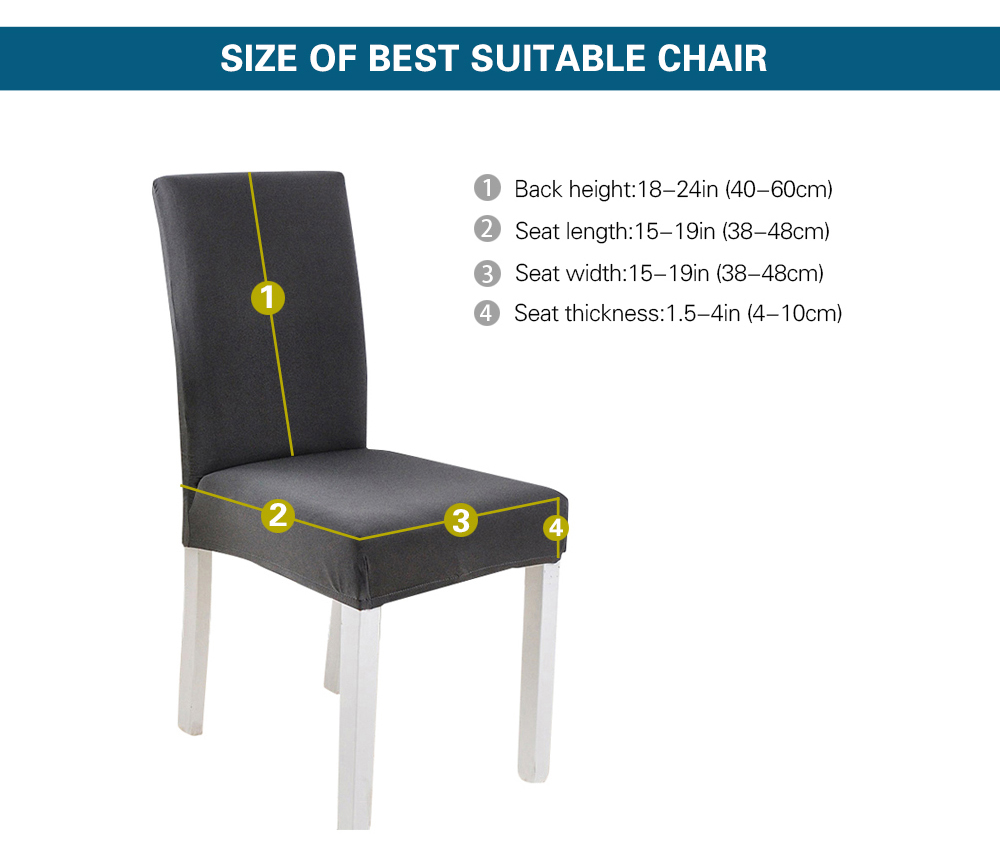 Elastic Chair Cover Stretch Elastic Dining Seat Cover for Banquet Wedding Restaurant Hotel Anti-dirty Removable housse de chaise