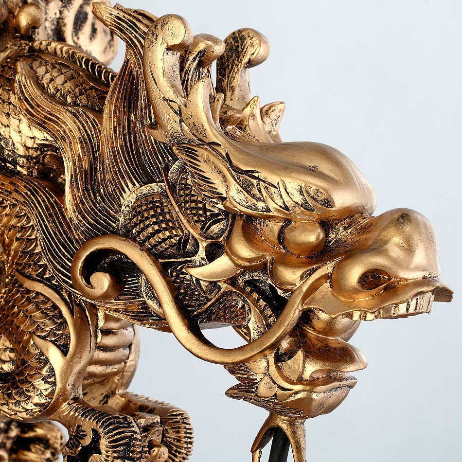 Wonderland appliques chine Dragon puissant Art applique murale salon de luxe décoration de la maison éclairage mur lampe à LED escalier tuyau - 4