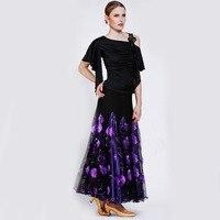 Promotion Lady Ballroom Dancing Skirt Modern Dance Dress Women Waltz Valse Dress Tango Galop Fox Trot Social Dance Dress B 2643